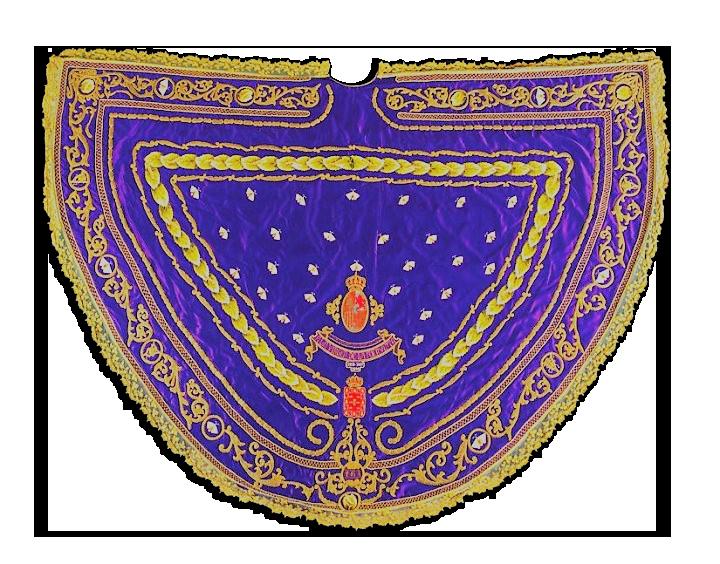 manto morado gusanos de la seda virgen de la Fuensanta