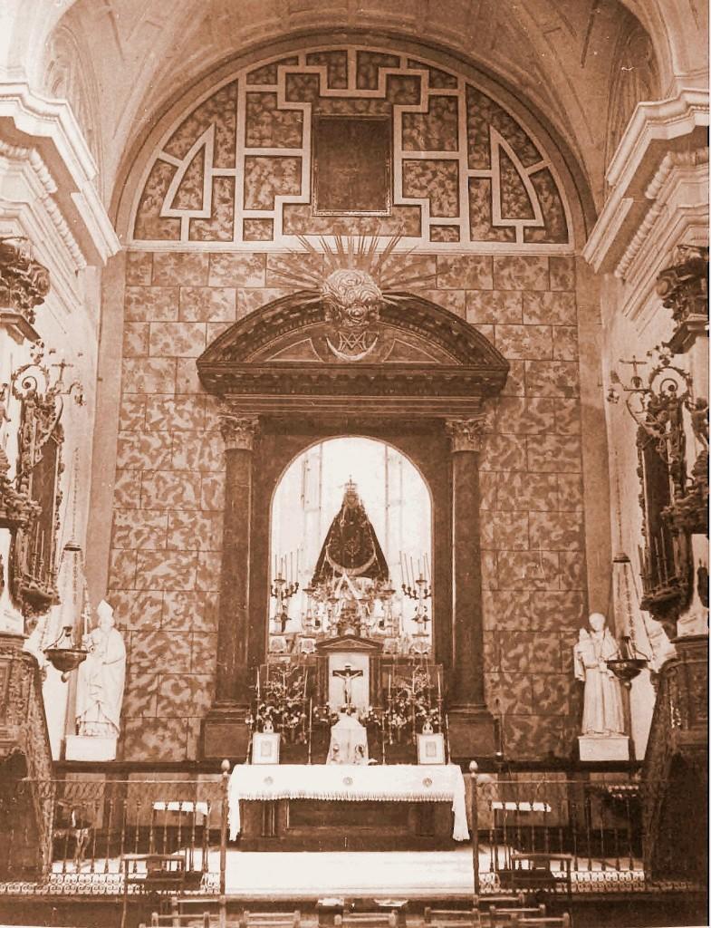 retablo tras la guerra civi del santuario de la virgen de la fuensanta